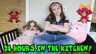 24 Hours In The Kitchen With No Lol Dolls! Easter Edition! The Doll Maker Was There!