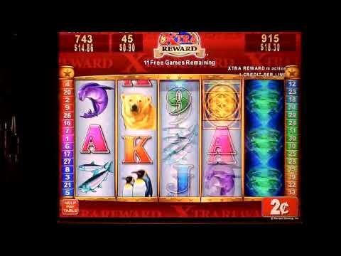 Arctic Diamonds Extra Reward Bonus Win 2 cent  slot machine