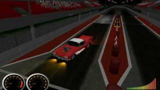 Drag racing game practicing burnout