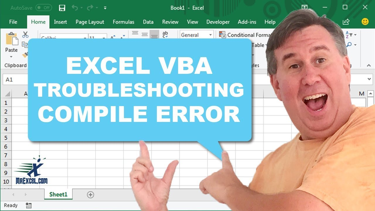 Learn Excel - Compile Error - Now What? Podcast #1820