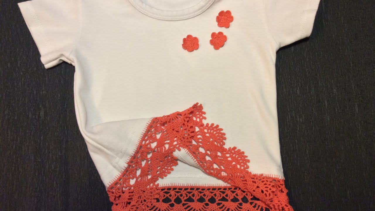 Decorate a tshirt with crochet edging diy style for How to decorate t shirts