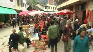 Yong Lee, marché Miao, Guizhou, Chine des minorités du sud-ouest.qt