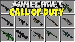 MINECRAFT CALL OF DUTY MOD | 3D GUNS, GRENADES, SNIPERS, AK-47's & MORE!!