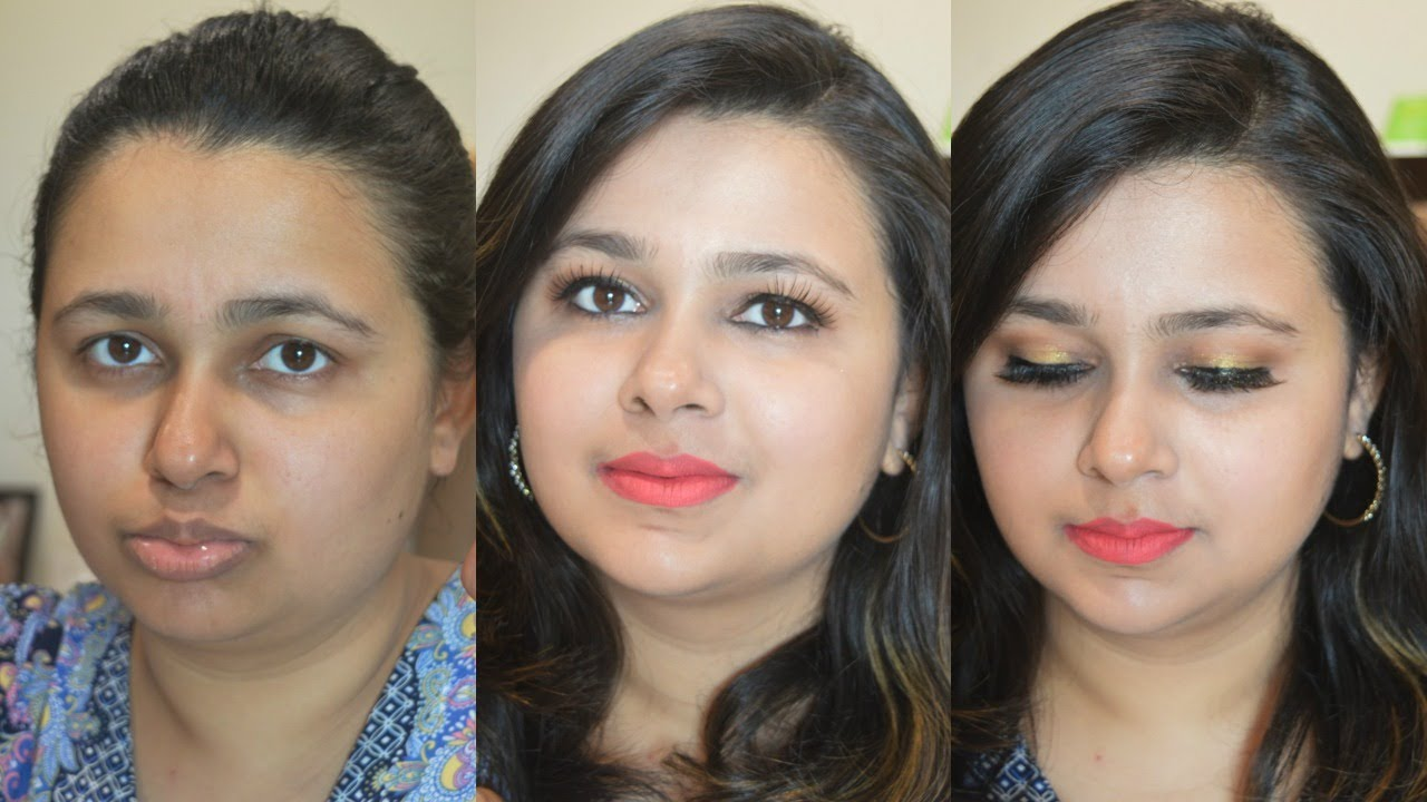 Simple Party Makeup At Home In HINDI | Theitgirlbymj - YouTube