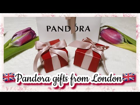 Unboxing Pandora Gifts haul from Pandora Circus Oxford Londo