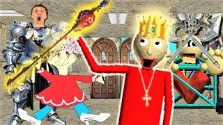 BALDI TURNS INTO A POWERFUL KING!! | Baldi's Basics MOD: King Baldi