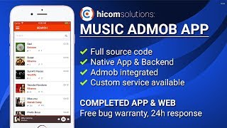 Gambar cover Music with Soundcloud Look iOS App Template, Script, Source Code for Sale