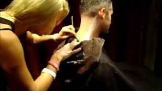 New!!!  Free! neck shave with any hair service from The Den Salon Downtown Long Beach