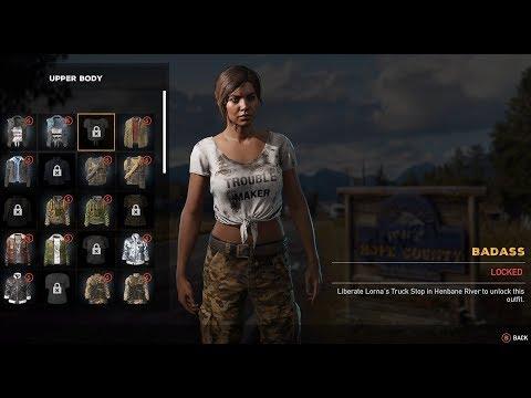 Far Cry 5 Character Customization Female (Default Threads)