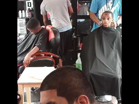DAY# 2  SHAPE-UP KING BRINGS 3 BARBERS TO CHIlDRENS GUILD Behavioral & Autism