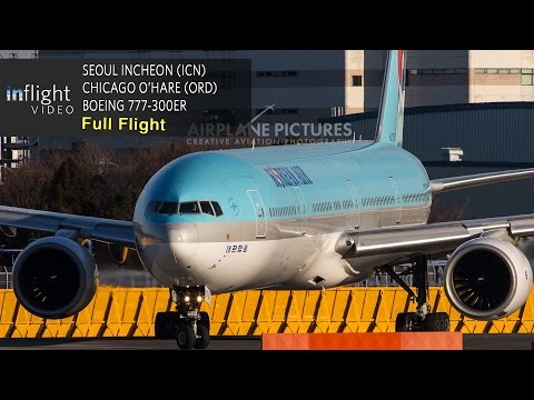 Korean Air Full Flight | Seoul Incheon to Chicago O