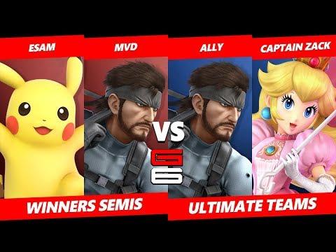 Genesis 6 SSBU Teams - ESAM & MVD VS Ally & Captain Zack - Smash Ultimate Teams WSF