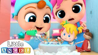 Download Baby Brother Learns to Play with the Dollhouse | Little Angel Kids Songs & Nursery Rhymes Mp3 and Videos
