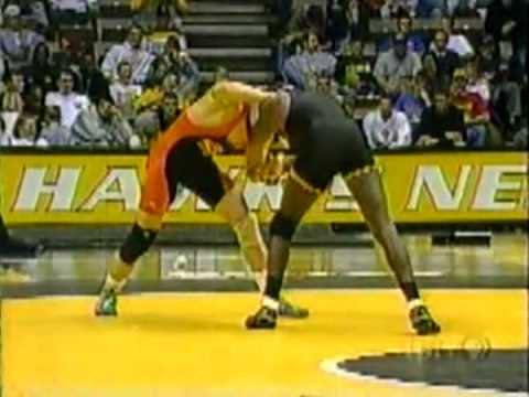 TJ WIlliams (Iowa) vs Shane Roller (Oklahoma State) 2000 dual meet at 157