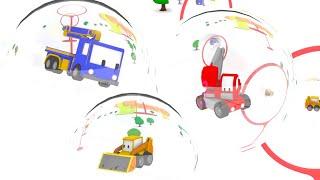 Basen + Banieczki - ucz się z Małymi Samochodzikami | Bajki Edukacyjne dla Dzieci