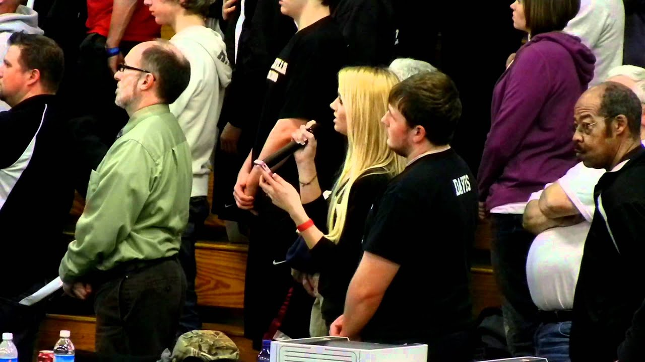 National Anthem   Thomas Chevrolet Wrestling Tournament   Bedford, PA.    YouTube