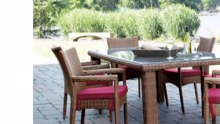 South Beach Patio Outdoor Wicker Dining Set Of 7 - Wickerparadise.com
