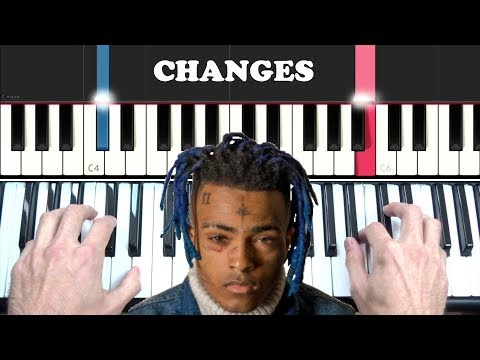 HOW TO PLAY: XXXTENTACION - CHANGES EASY PIANO TUTORIAL LESSON