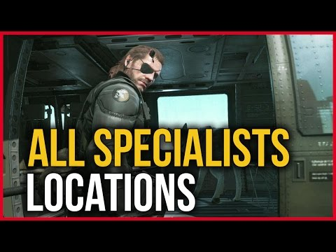 Metal Gear Solid V The Phantom Pain - All Specialist Locations (How to get all the specialists)