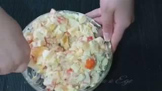 """Салат """"Гармония"""" с куриным филе и апельсином"""