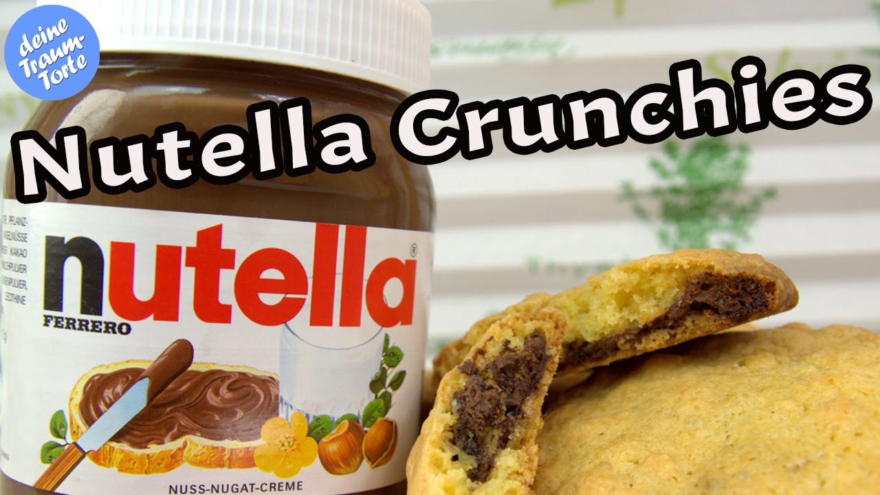 nutella crunchies pl tzchen backen nutella rezepte pl tzchenrezepte kekse backen youtube. Black Bedroom Furniture Sets. Home Design Ideas