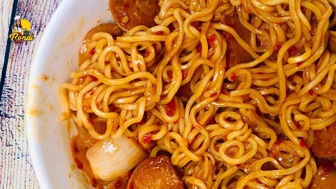 විනාඩි 2න් චයිනීස් රසට නූඩ්ලස් එකක් හදා ගන්නේ මෙහෙමයි | Chinese Style Spice Instant Noodles Recipe