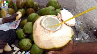 Coconut Cutting Skills | HEALTHY STREET FOODS IN INDIA | Flesh & Juice Intact | Kobbari Bondam |