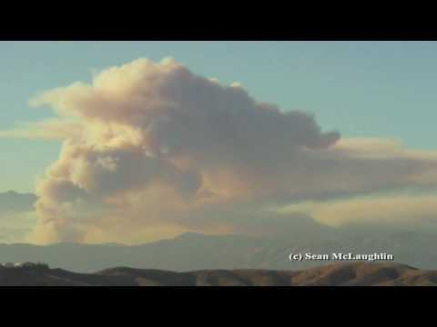 Angeles National Forest Wildfire Timelapse - August 25, 2009