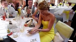 Cardiff wedding magician wows guests at a wedding