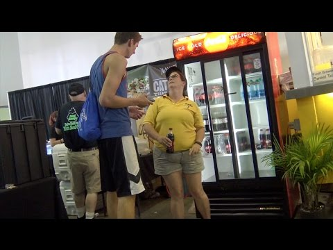 """Tall Guy (6'9"""") Asks Short People About Height - Prank"""