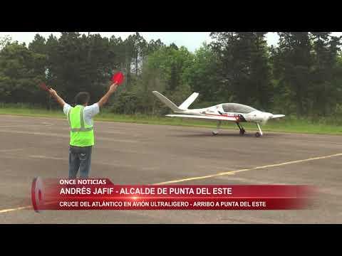 Cruce del Atlántico en avión ultraligero arribó a PDE 18/10/2017