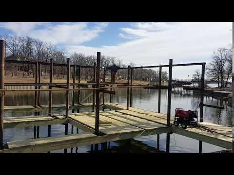 Cedar Creek Lake Dock Construction