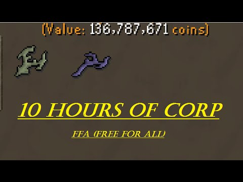 OSRS - Loot from 10 hours of Corp [4 man FFA]