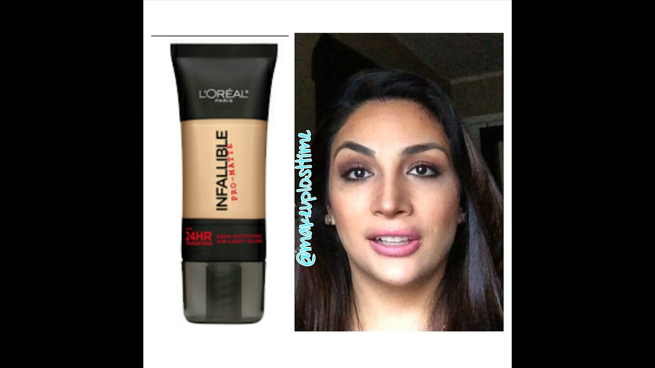 My Take: L'Oreal Infallible Pro-Matte Foundation - YouTube