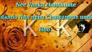 Choosi Chudangane Song karaoke #Chalo#
