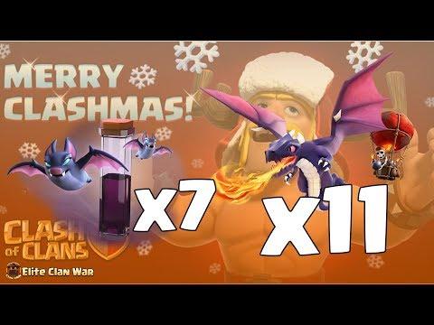 Bat Spell x7 + Dragon | 3 Stars th12 | #lus