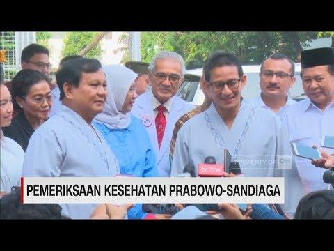 Prabowo - Sandiaga Uno Usai Menjalani Tahap Pemeriksaan Kesehatan