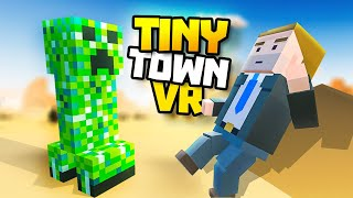 CREEPER ATTACK IN AREA 51 - Tiny Town VR Gameplay Part 80