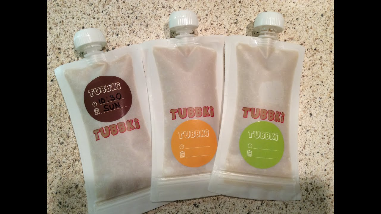 Easy Fruit Puree Tubbki Reusable Baby Food Pouch Review