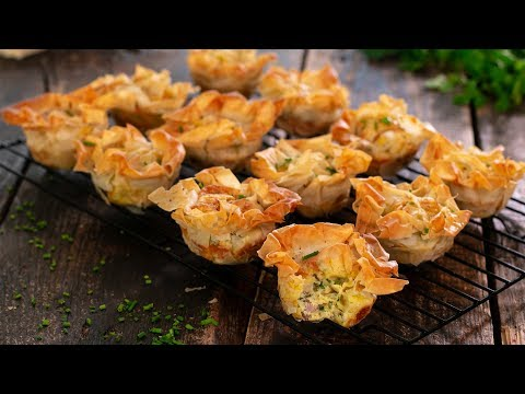 Filo Mini Quiches (Filo Pies)