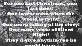 One Last Christmas Matthew West Lyrics