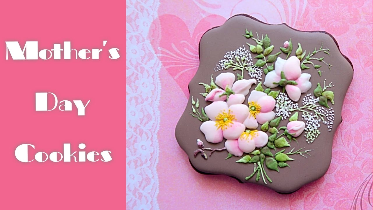 Mother\'s Day cookie gift. Beautiful flower bouquet.🌸 - YouTube