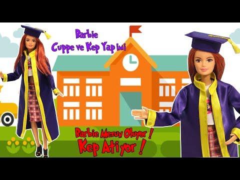 Barbie Mezuniyet Kıyafeti Yapımı - Barbie Cüppe ve Kep - Bidünya Oyuncak