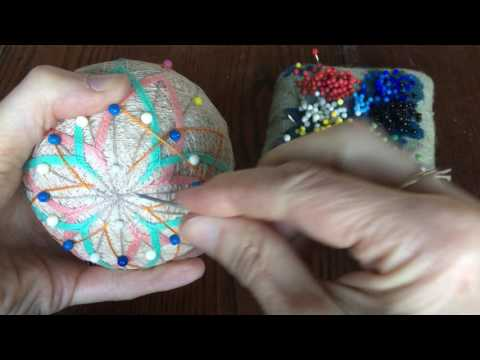 Stitching A Temari Ball
