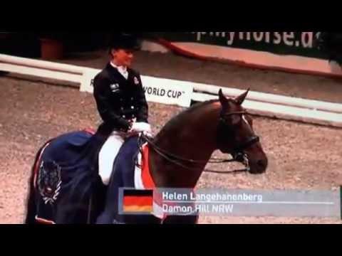 Damon Hill wins Gr.Pr.in Neumünster with 83,32%.Pricegiving Ceremony.With Helen Langehanenberg