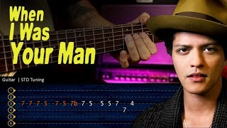 Download Mp3 When I Was Your Man - Bruno Mars Guitar Tabs   Cover Guitarra Christianvib