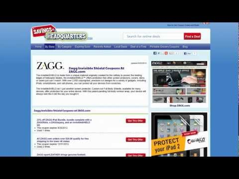 How-to use Zagg.com coupons ZAGG coupon codes