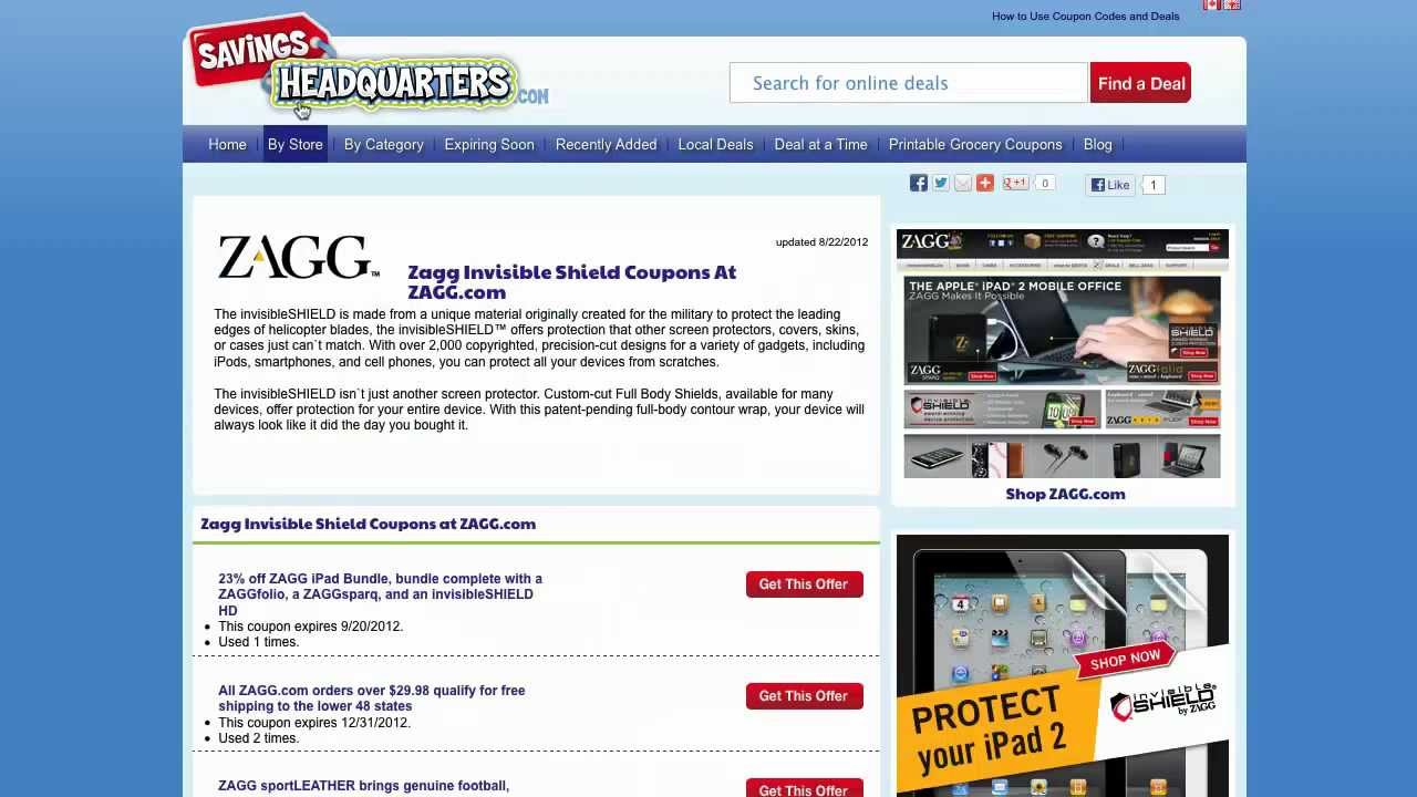 How To Use Zagg Coupons Coupon Codes