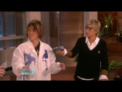 Steve Spangler's Shocking Experiment on Ellen 09/30/08