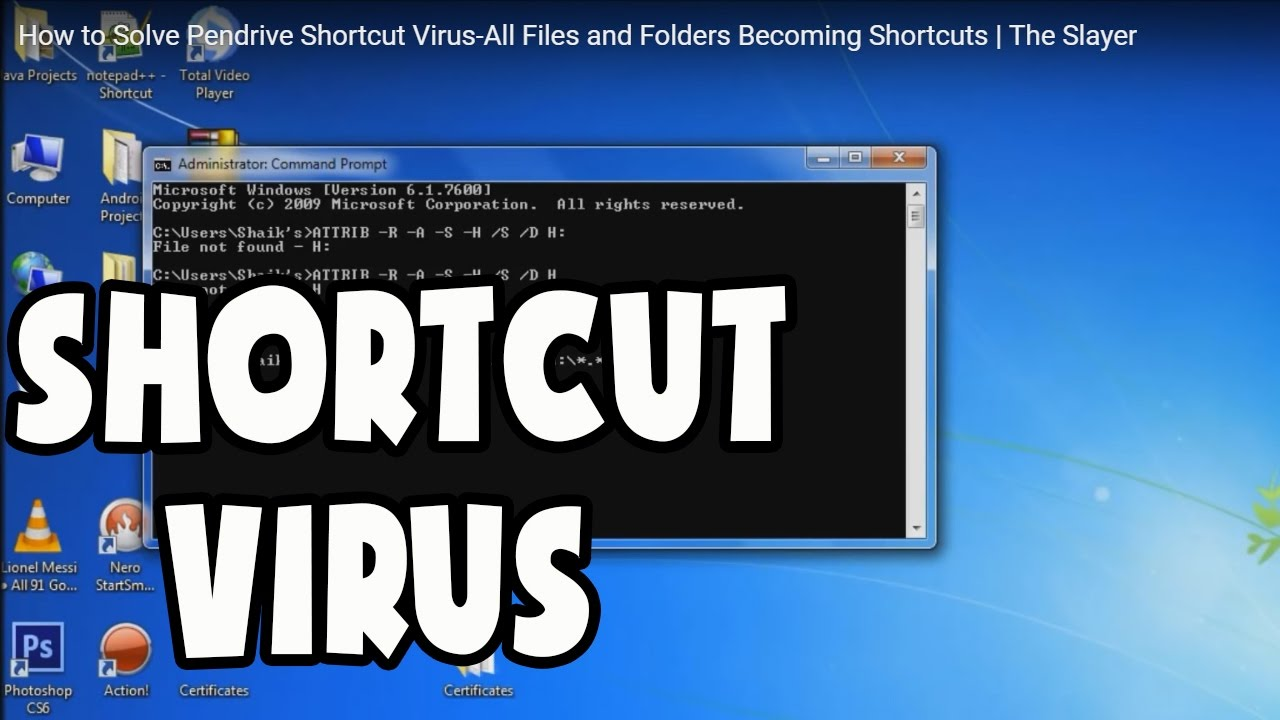 How to Solve Pendrive Shortcut Virus-All Files and Folders Becoming  Shortcuts | The Slayer